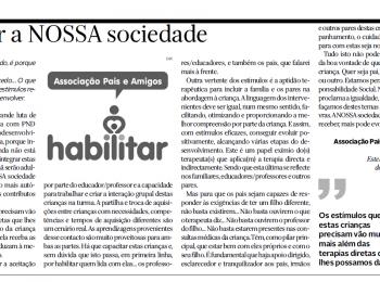 Crónicas inclusivas: Estimular a NOSSA sociedade.